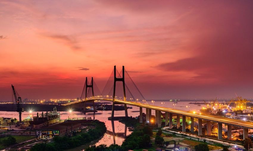 Architecture Bridge - Man Made Structure Built Structure Business Finance And Industry City Cityscape No People Outdoors Sky Sunset Water