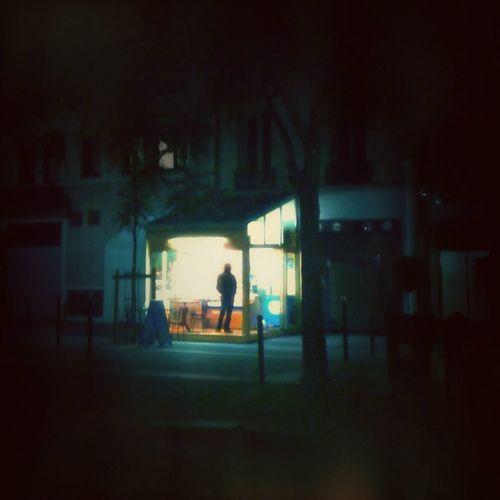 Full length of woman at night