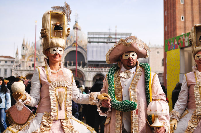 Architecture Arts Culture And Entertainment Building Exterior Carnival Carnival Crowds And Details Carnival Of Venice Carnival Spirit City Day IT Italy Masque Masquerade Old Fashioned San Marco San Marco S San Marco Square Two People Venetian Venetian Mask Venice Venice Beach Venice Carnival Venice, Italy Women