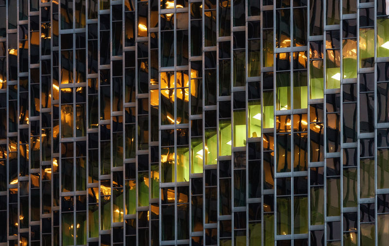 Closeup exterior office, Totonto Pattern No People Illuminated Full Frame Backgrounds Glowing In A Row Shape Business Close-up Design Architecture Office Building Exterior Architectural Design Architectural Detail Toronto Financial District  Canada Repeating Patterns Glass Windows Steel The Architect - 2019 EyeEm Awards