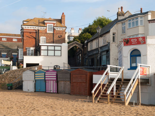 Broadstairs is a coastal town on the Isle of Thanet in the Thanet district of east Kent, England, about 80 miles (130 km) east of London Architecture Beach Huts Broadstairs Building Exterior Built Structure Chair Day No People Outdoors Residential District Town