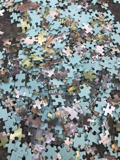 Puzzle Abundance Backgrounds Close-up Connection Day Full Frame High Angle View Indoors  Jigsaw Piece Jigsaw Puzzle Large Group Of Objects Leisure Activity No People Pattern Puzzle  Shape Solution Still Life Strategy Table