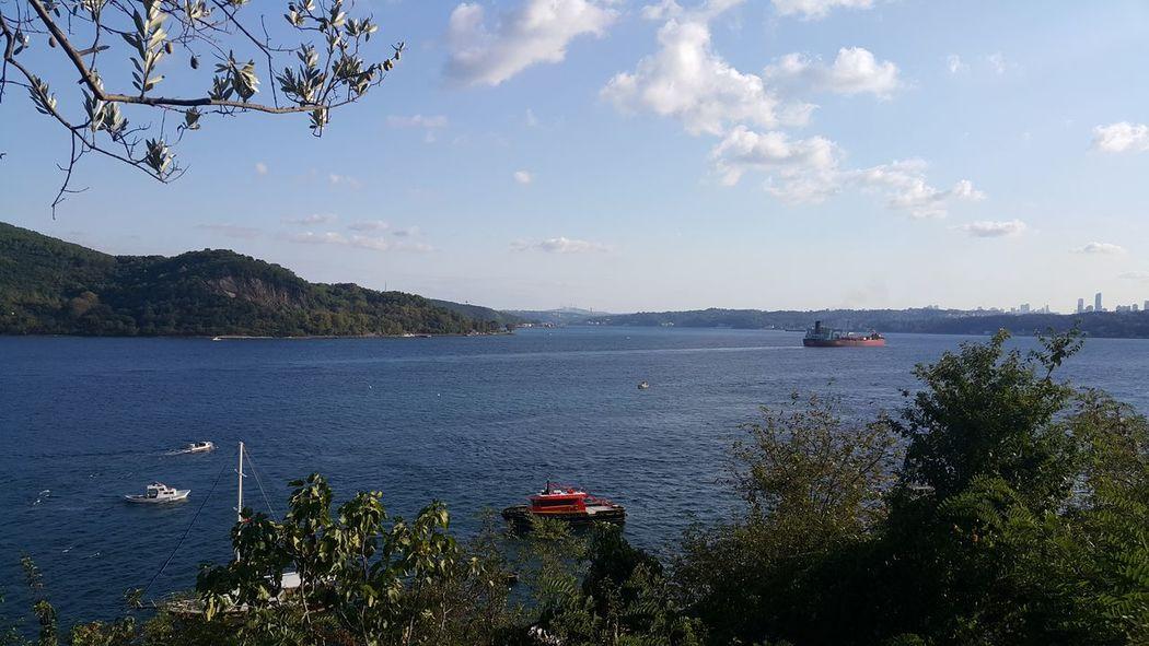 Nautical Vessel Mode Of Transport Transportation Water Boat Sky Scenics Tranquil Scene Tranquility Cloud - Sky Sea Sailing Cloud Calm Blue Sarıyer Sarıyer Istanbul Turkiye Turkey