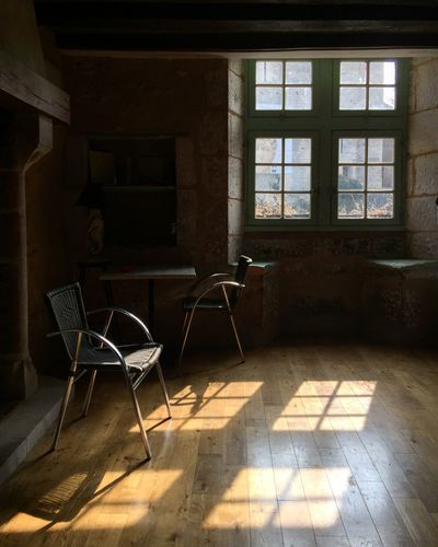 Abandoned Absence Architecture Built Structure Chair Day Empty Flooring Furniture Home Interior House Indoors  Interior No People Room Shadow Sunlight Table Tiled Floor Window
