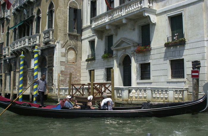 On the Venetian Canals Architecture Canal Canals And Waterways City Cultures Day Gondola Gondola - Traditional Boat Gondole In Venice Gondolier Outdoors Travel Destinations Vacations Venecian Venice Canals Venice Italy Venice, Italy