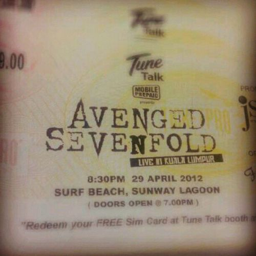 13 days to go! A7XLiveInKualaLumpur