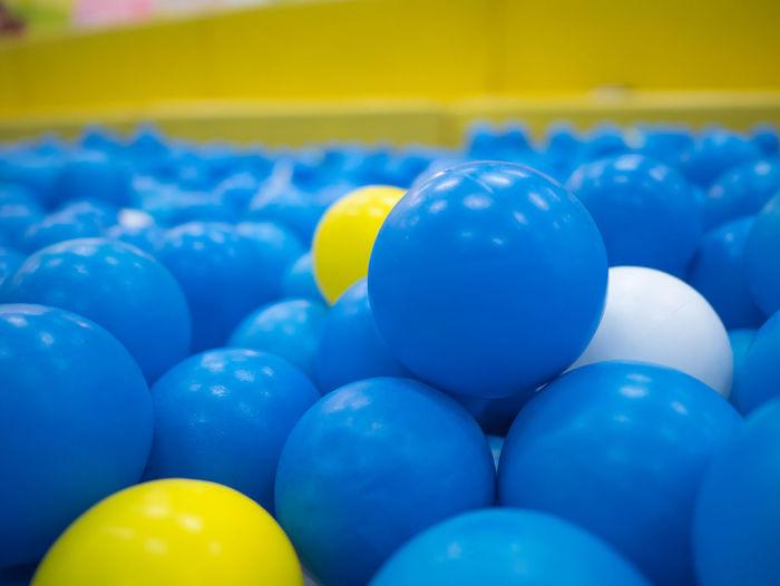 Full frame shot of blue balls