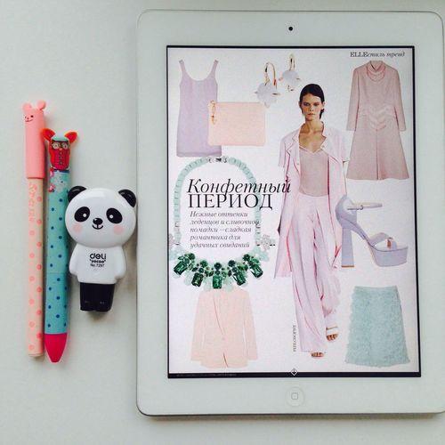 Elle Magazine Fashion Pink