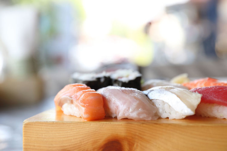 Food Food And Drink Still Life Japanese Food Healthy Eating Asian Food Freshness Sushi Focus On Foreground Seafood Rice Wellbeing Ready-to-eat Wood - Material Table Fish Temptation Sashimi  My Best Photo