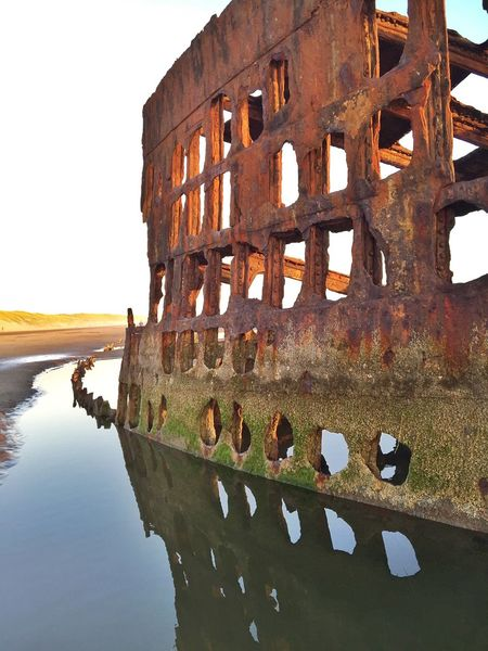 Rustygoodness 43 Golden Moments Beach Photography Oregon Coast Shipwreck Beachphotography Rusty Perspective Ship Wrecked Boat Landscapes Scenic Landscape Rustic Views Beach Abandoned Scenics Scenic View