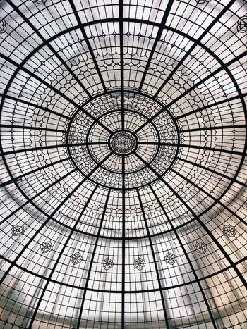 Glass dome. Beautiful! Full Frame Low Angle View Backgrounds Pattern Architecture Dome Indoors  No People Built Structure Concentric Day Sky Glass Dome No Edit/no Filter Glass