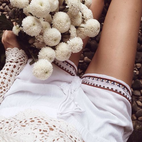 Flowers Allwhiteeverything Fitness Summer Details Hippie Boho Bohemian