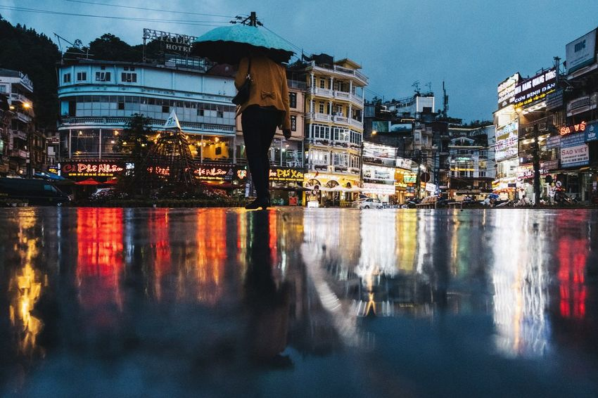 Sapa Vietnam Streetphotography Xpro2 City Water Cityscape Illuminated Reflection Sky Architecture Building Exterior Built Structure Urban Skyline Moving