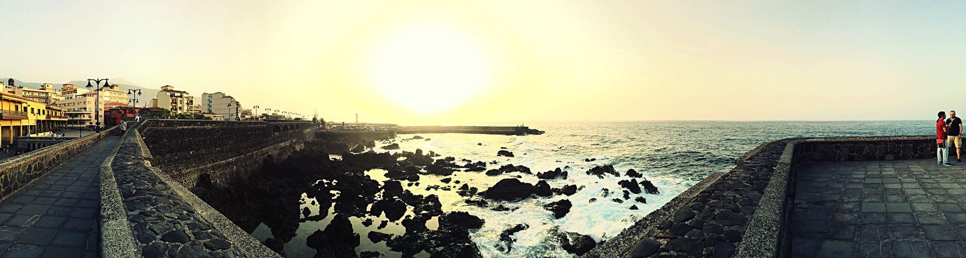 Sun Sea Sunset Sunlight Water Sky Vacations Teneriffa