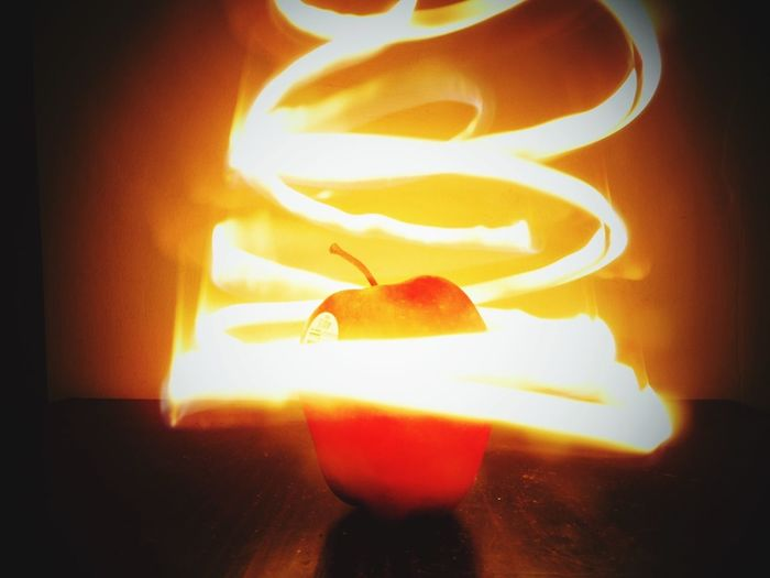 Make Magic Happen Living Bold Magical Apple Fruit Fire Light And Shadow