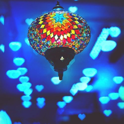 Multi Colored Close-up Lightshade Arabian Asian  Indian Culture