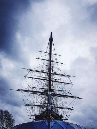 Ship Cutty Sark Cutty Sark Greenwich.  Tea Clipper Cloud - Sky