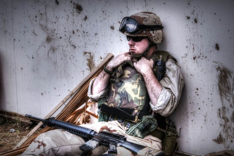 HDR Infantry M16 Reenactment Us Forces War And Peace Show