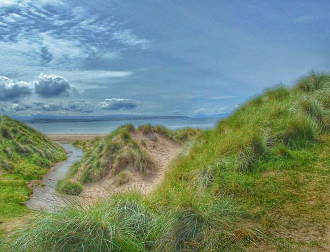 Big Sands beach at Gairloch Scotland Scottish Highlands . Sun , Dunes Sand Dunes Sky Big Sky Grasses Wild Grasses Nature Countryside Beachphotography Beach River