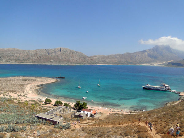 Katarzyna Dziemidowicz Balos Lagoon Crete Greece Architecture Beach Beauty In Nature Blue Clear Sky Day High Angle View Island Landscape Mountain Nature Nautical Vessel No People Outdoors Scenics Sea Sky Tranquil Scene Tranquility Transportation Travel Destinations Water Yacht