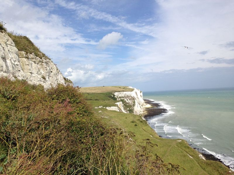 Beauty In Nature Cloud - Sky Day Growth Horizon Over Water Nature No People Outdoors Scenics Sea Sky Tranquil Scene Tranquility Water White Cliffs  White Cliffs Of Dover