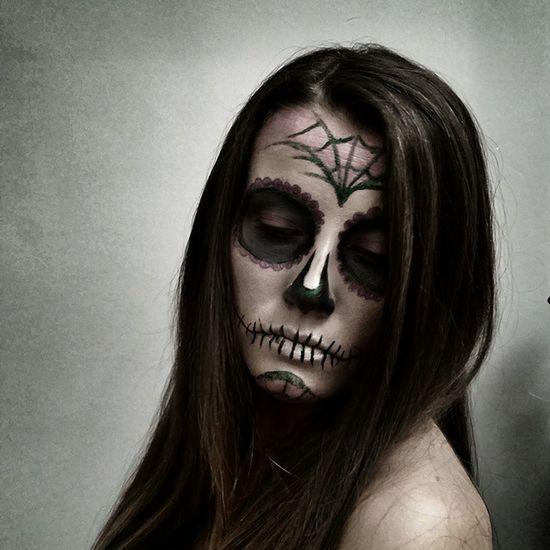 Halloweenmakeup Halloween Makeup Skull Sugarskull Sugarskullmakeup Mexicanskull Santamuerte