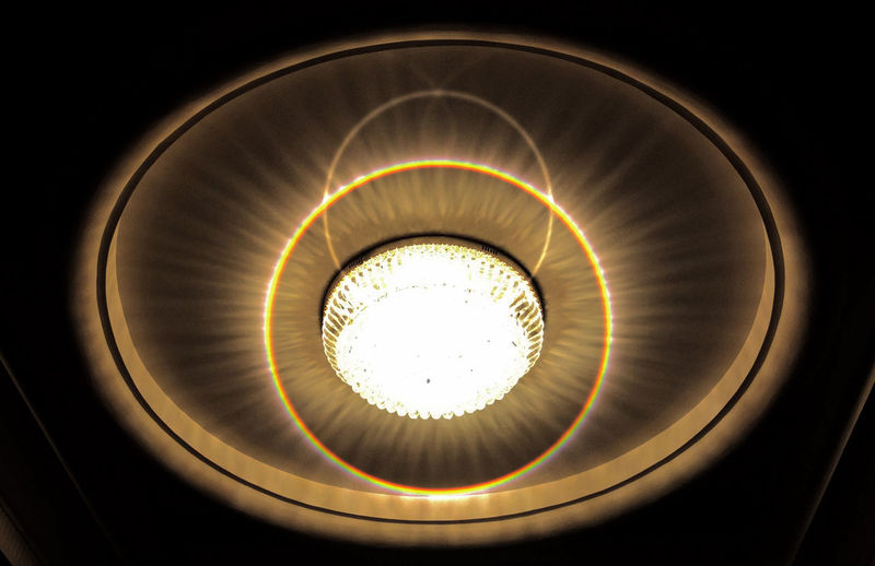 Low angle view of illuminated light