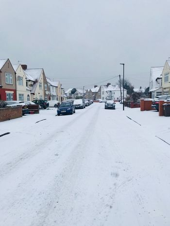 London Snow Fall White Hounslow London Tadaa Community Built Structure Building Exterior Architecture Day Nature Snowdrift City Residential Building Road Sky