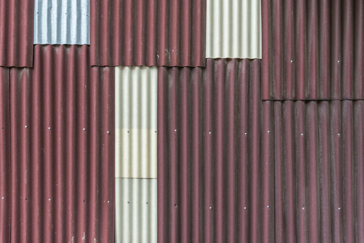 Architecture Backgrounds Building Building Exterior Built Structure Cargo Container Closed Corrugated Corrugated Iron Day Full Frame Iron Iron - Metal Metal No People Outdoors Pattern Red Sheet Metal Shutter Wall - Building Feature