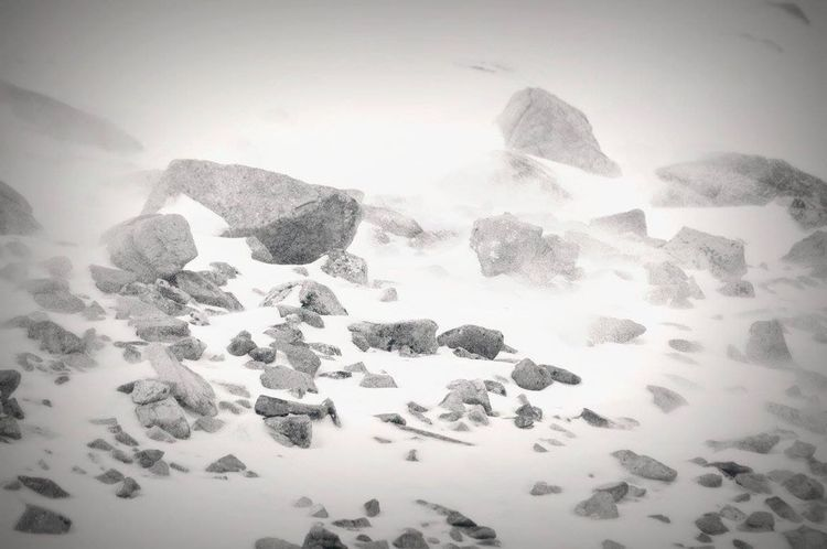 Showcase: February Mountain Rocks Windy Snow ❄
