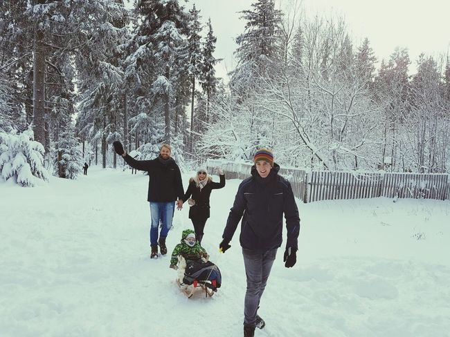 Winter Snow Cold Temperature Warm Clothing Togetherness Fun Playing Mature Adult Outdoors Landscape Winter How Is The Weather Today? The Places I've Been Today January 2017 Winter 2017 It Is Cold Outside Winter Wonderland Nature Forest Portrait Looking At Camera Happiness Childhood Love My Family Love My Nephew