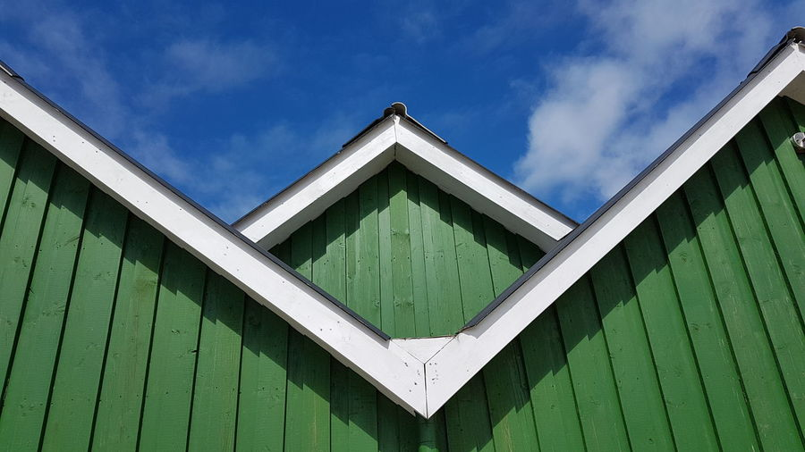Sea Architecture Green Color Built Structure No People Outdoors Sky Day Triangle Shape