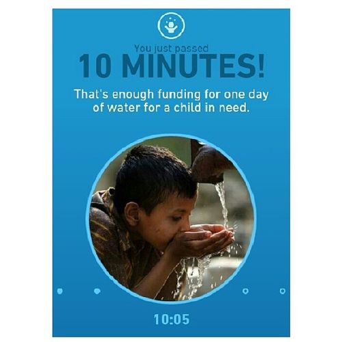 Just did 10 minutes for the Unicef Tap Project when suddenly my data finished hahaha! But it's definitely a good use ? visit UNICEFTAPPROJECT.ORG on your cell phone and challenge yourself to see how long you can last without touching your phone! ? for every minute you don't touch your phone, their sponsors and donors can fund one day of clean water for a child in need! Let's do this! Unicef Uniceftapproject Water Kids africa challenge