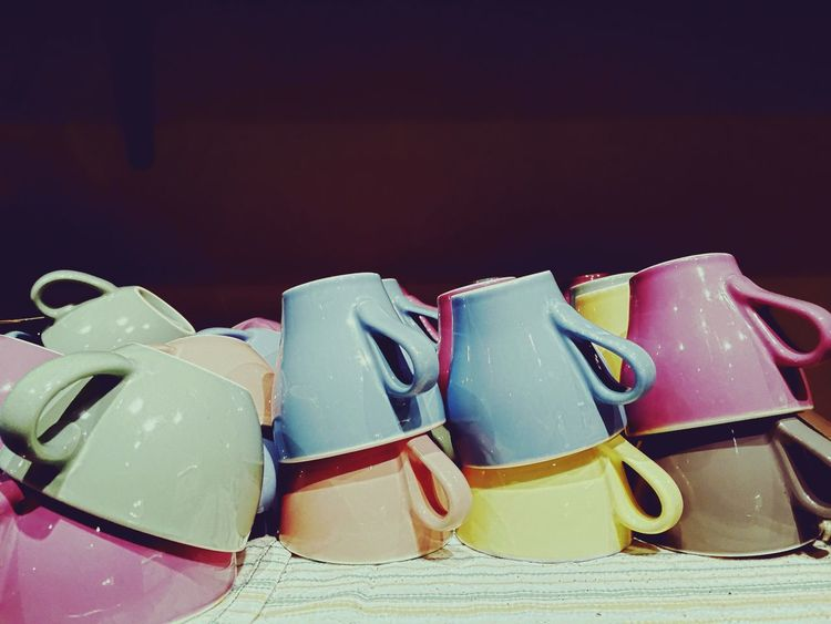 Pastel Power Cups Coffee Cup Coffee Cups Colours Crockery Shapes Indoors  Cafe Coloured Objects Cups And Mugs