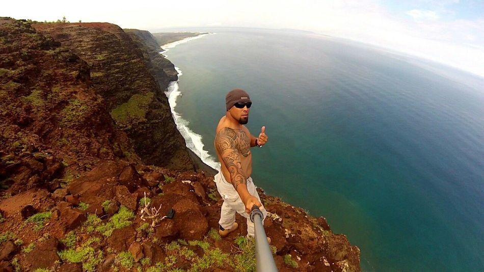 Selfie Tattoo Gopro Cliffs