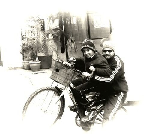 Monochrome Photography Togetherness Cycling People And Places. EyeEm Team Ricky