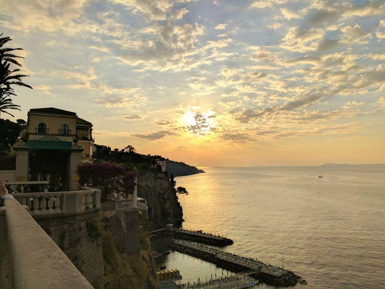 Sorrentocoast Sorrento, Italia Sorrento Sea Seascape Sunset And Sea Italian Sea Italian Seaview Italian Landscapes Italian Sunset Sorrento Sunset Cloudscape Clouds And Sea Been There.