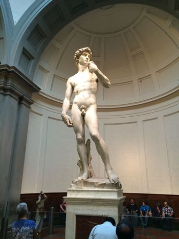 David Florence Italy Accademia Architectural Column Architecture Art And Craft Day Human Representation Indoors  Low Angle View Male Likeness Michelangelo's David Museum Real People Sculpture Statue