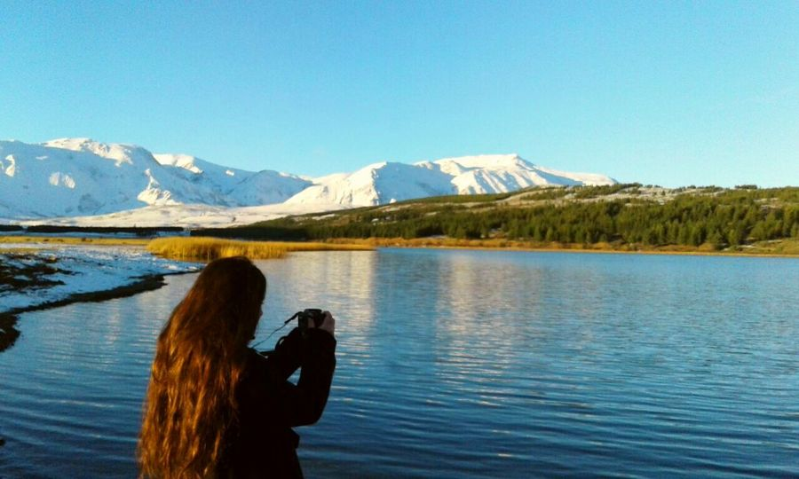 Beautiful view Taking Pictures Taking Photos That's Me Enjoying Life Esquel Nature Photography Lake Sunset Pic Mountains Snow Beautiful Place Chubut Argentina Photography Argentina Girl Eyem Nature Lovers