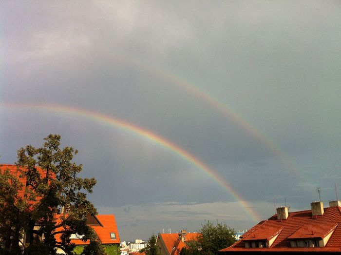 My Stage From My Terrace  Rainbow My Uniqe Place Sky City Taking Photos