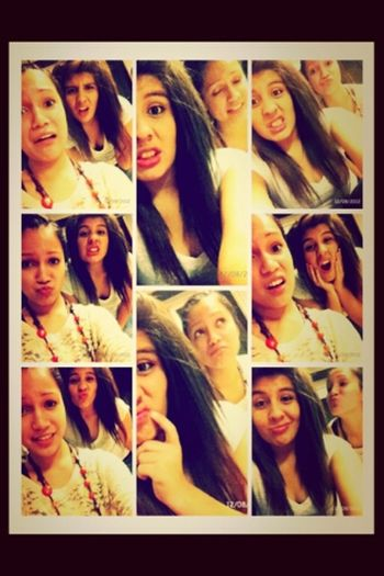 me and my best friend(: Bored Taking Photos I See Faces Silly Faces
