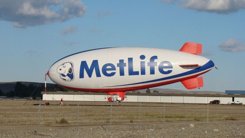 Taking Pictures Taking Photos Blimp Airship Metlife