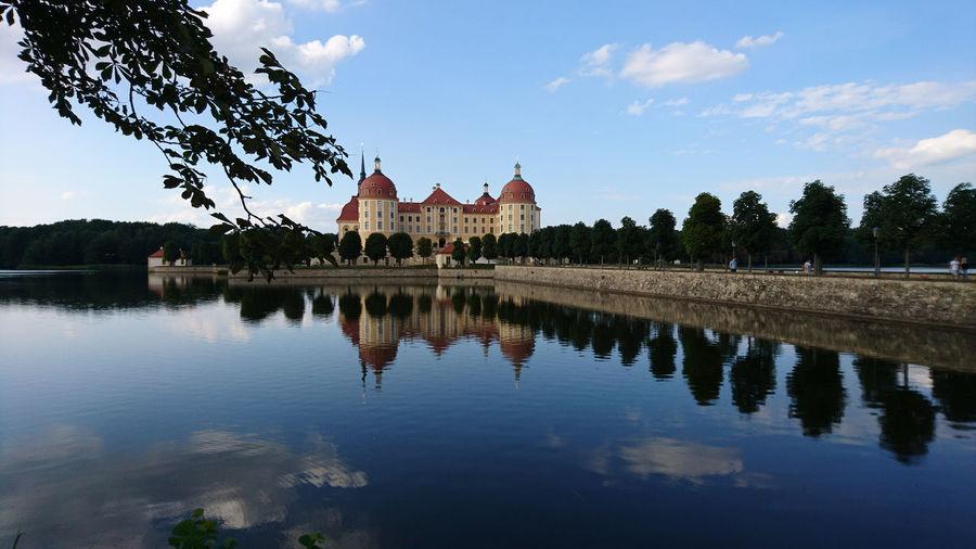 Moritzburg Castle Moritzburg  Water Tree City Reflection Sky Architecture Building Exterior Cloud - Sky First Eyeem Photo