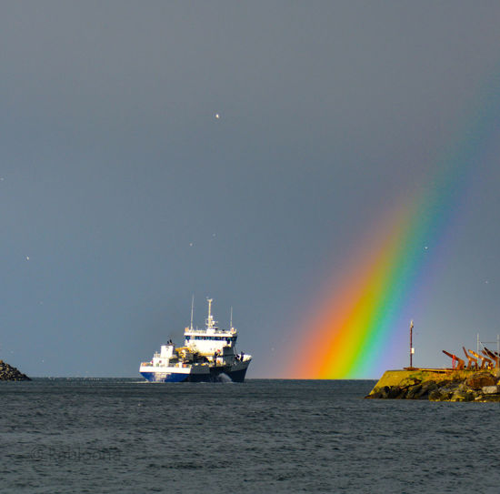 Fish Carrier Rainbow Beautyinnature  Photooftheday Instagood Picoftheday Beautyofnature Rainbows Skjervøy Norway NikonD5200 Tranquility Sun Cloudy Contrast Colours Colors Rain Summer May Reflection Photooftheweek Photography Colours Of Nature #spring Arctic Hope Fish Carrier