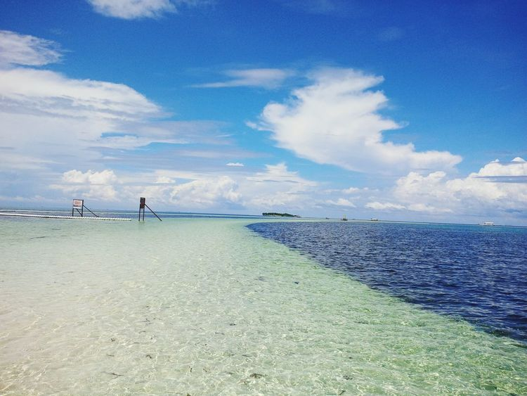 Different shades of Blue... EyeEmNewHere Beach Sea Cloud - Sky Sky Water Sand Horizon Over Water Blue Outdoors Nature Vacations Beauty In Nature Scenics Day Tranquility