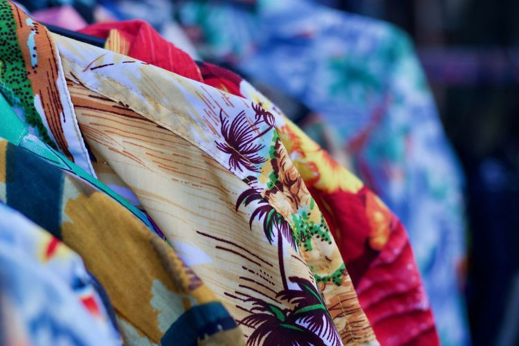 A collection of Hawaiian shirt Aloha Shirt Colours Fashion Hanging Out Hawaii Hawaiian Shirt MENS HAWAIIAN SHIRT Portobello Market Shirts Shirts Of EyeEm Textile Industry Textured  colour of life Fashion Photography For Sale Holiday Shirt Holiday Shirts Multi Colored Multi Coloured Shirt Stamps Textile