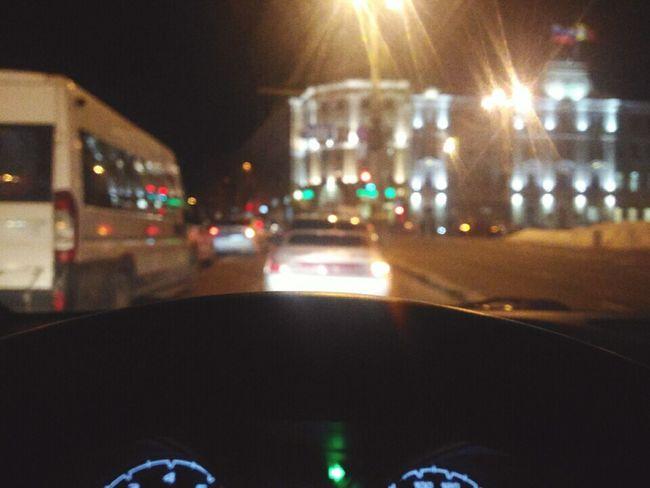 Transportation Night Illuminated Traffic Road Outdoors