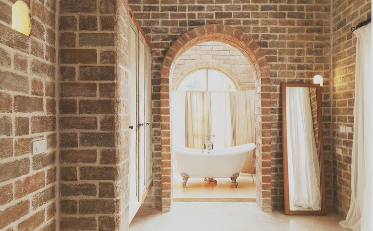 Beautiful Rest & Relax Arch Architecture Bathtub Brick Wall Built Structure Comfortable Place Day Indoors  Like Luxury No People Relaxing Moments Rest Room Window