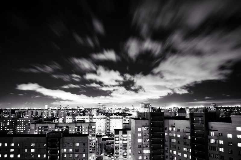 Architecture Building Exterior City Sky Cityscape Cloud Cloud - Sky No People City Life Cloudscape Night Nightphotography Night Lights Night View First Eyeem Photo