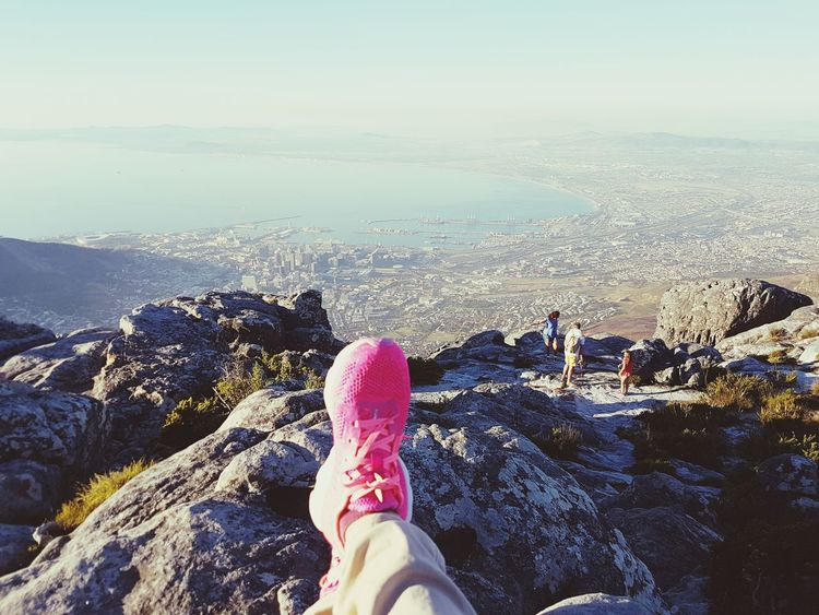 Out Of The Box Personal Perspective Shoe Leisure Activity Sky Horizon Over Land Horizon View Horizon Over Mountains Cape Town Cape Town, South Africa Table Mountain 20 April 2017